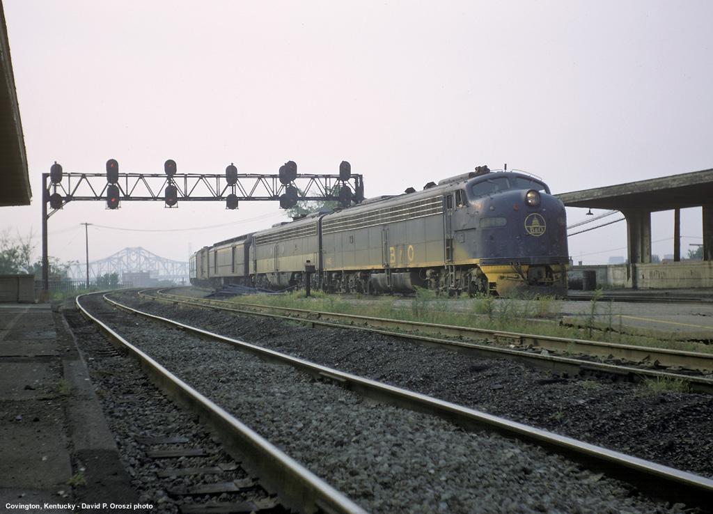 C&O train #2 arrives at Covington in 1970.